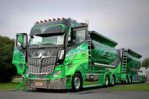 Extreme Custom semi truck wrap
