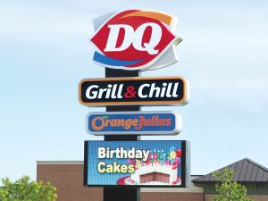 Westchase Lighted Signs 0092 Dairy Queen Bendsen Sign  Graphics W 19mm 80x176 Bloomington IL 101718 1 300x225